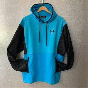 UNDER ARMOUR mix media color blocking hoodie XL